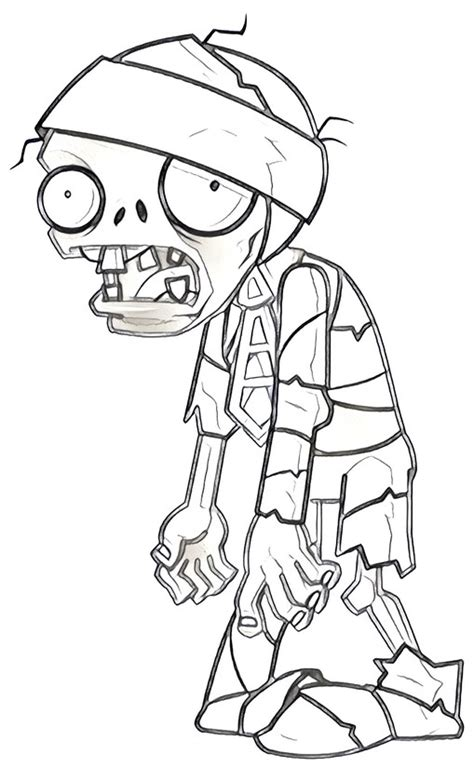 dibujos de zombies para colorear dibujo para colorear plants vs zombies 11