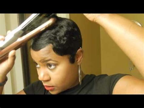 short hair cut with no relaxer short relaxed hair tutorial how i style my short cut