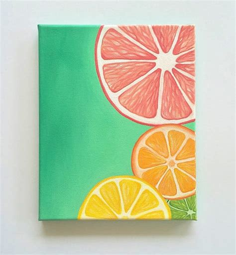 colorful kitchen wall art with fake fruits walls kitchens and colorful wall art bright wall art fruit painting citrus