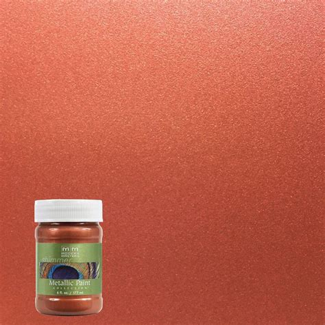 Wandfarbe Metallic Kupfer by Modern Masters 6 Oz Copper Metallic Interior Exterior