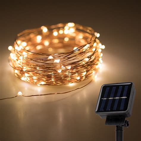 how are fairy lights wired solar powered led lights w copper wire 32 gift ideas bright leds