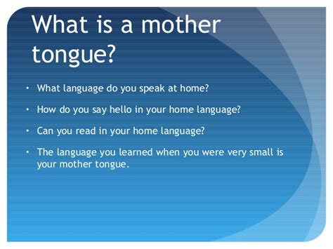 What Is Motherhood by Tongue Day