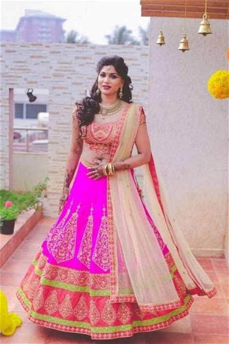 hairstyles for party on lehenga vibrant engagement in bangalore with a splash of pink