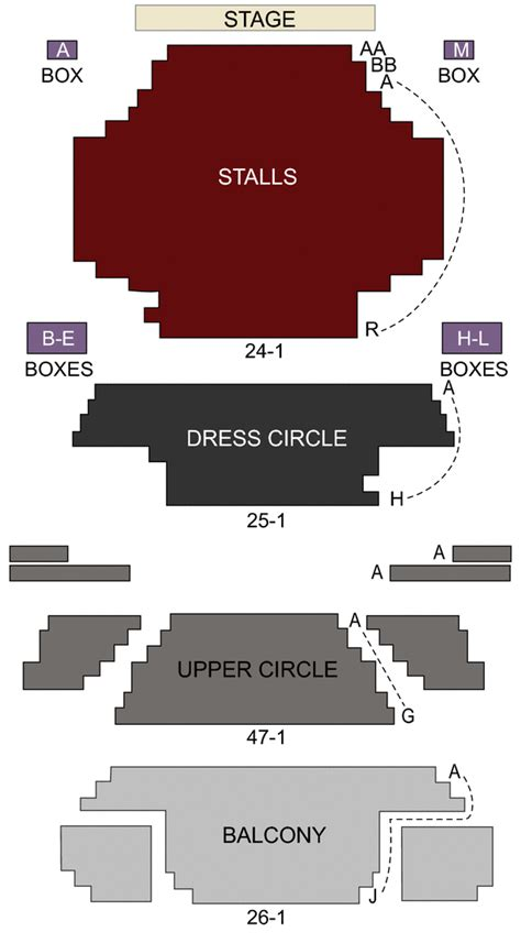 Lyric Theatre London seating chart and stage