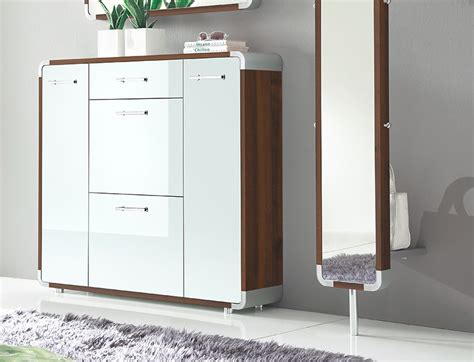 shoe cabinet with drawer 4 door contemporary shoe cabinet with drawer in choice of