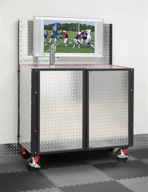 Kegerator Cabinet by Garage Fabricators Plate Kegerator Cabinet