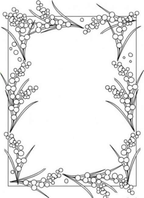 cornici da colorare cornice mimosa disegno da colorare gratis disegni da