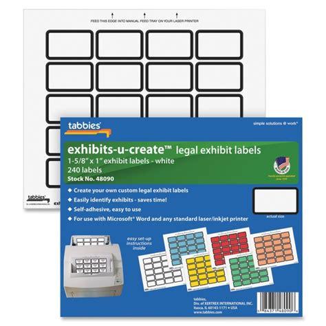 printable exhibit labels printer