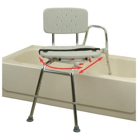 handicap bathtub chairs snap n save sliding transfer bench 37662 w swivel seat