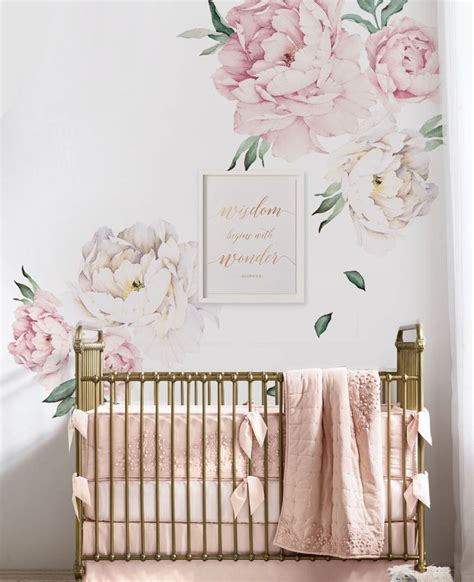Flower Wall Decals For Nursery Best 25 Flower Wall Decals Ideas On Flower Decals For Walls Flower Wall Stickers