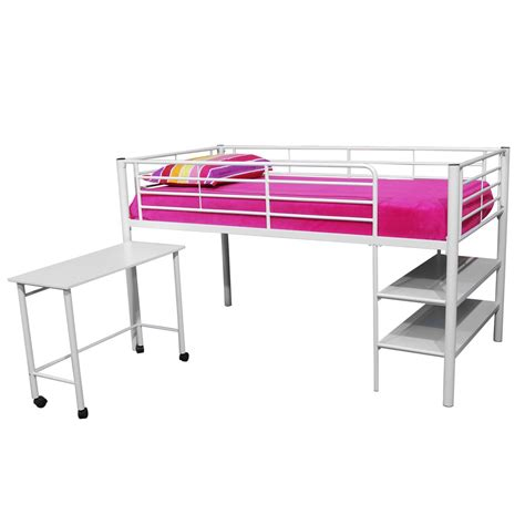 storage loft bed with desk walker edison twin loft bed w storage and desk by oj commerce 449 00