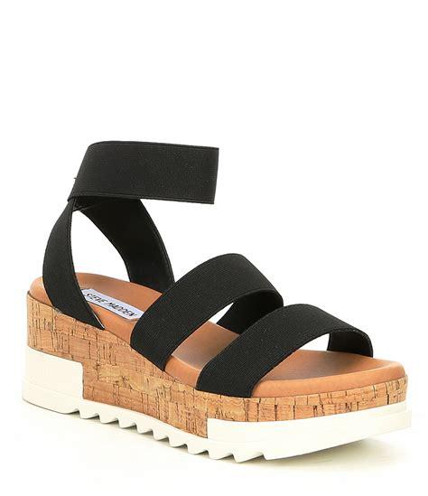 Steve Madden Bandi Sandals by Steve Madden Bandi Elastic Cork Flatform Sandals Dillard S