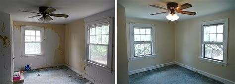 interior house paint before after before and after wallpaper removal window trim wall and
