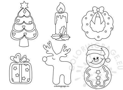 felt christmas pattern coloring page