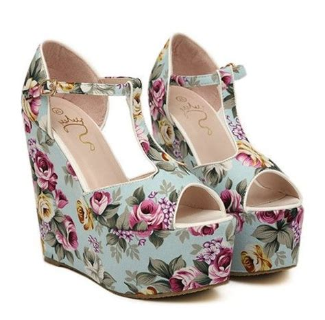 Wedges Floral floral print wedge sandals cl shoes