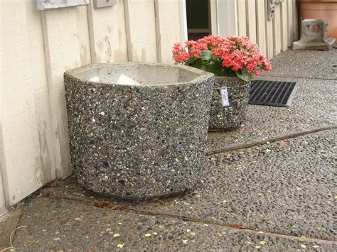 Precast Concrete Planter by Planter Exposed Aggregate Concrete Mackay