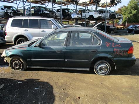 1998 honda civic lx parts 1998 honda civic lx green 4dr 1 6l at a16472 rancho honda