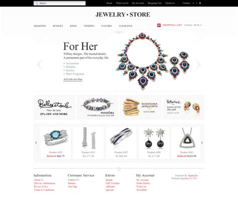 jewelry store opencart websit templates themes free