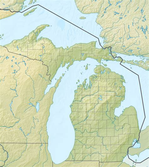 michigan in usa map file relief map of usa michigan png wikimedia commons