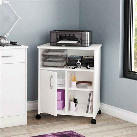 printer stand with storage cabinet 17 best ideas about printer storage on desktop
