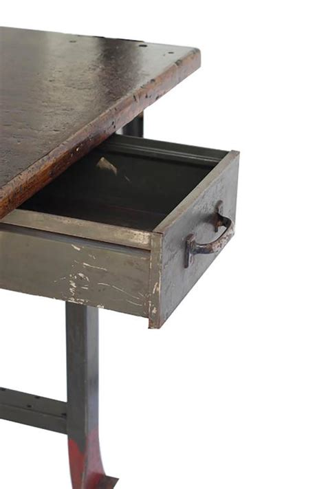machine shop work bench 1930s industrial table workbench with orignial machine