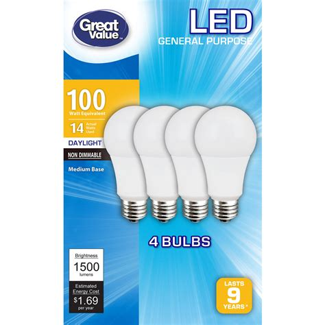 Ge Reveal A19 Light Bulb Walmart Com