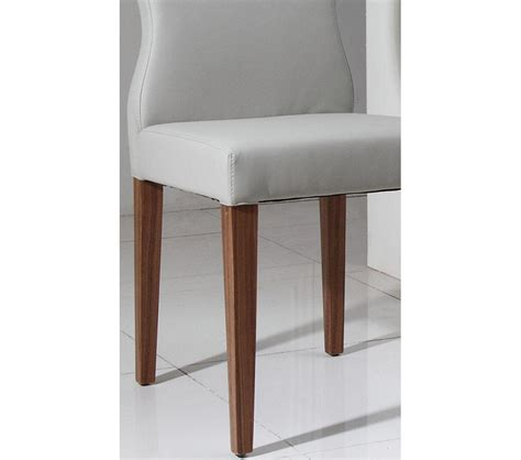 Light Grey Dining Chairs Dreamfurniture 8968ch Modern Light Grey Eco Leather Dining Chair
