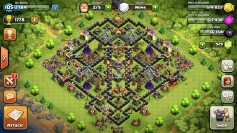 layout coc th9 clash of clans 4th mortar th9 layout war base clash