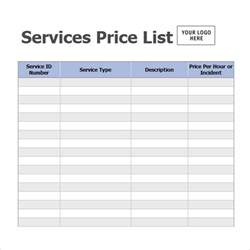 pricing template business pricing sheet template free for word excel or pdf