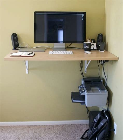 Diy Computer Desk Ideas Space Saving Awesome Picture Diy Small Desk