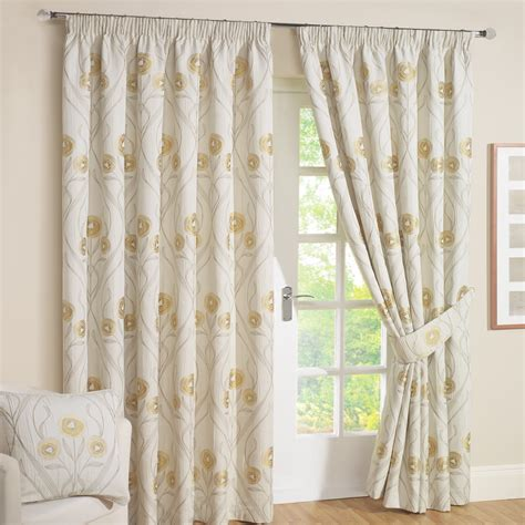 Floral Lined Curtains Montrose Floral Jacquard Lined Curtains Pair Julian Charles