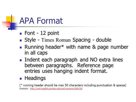 apa format font style should annotated bibliography have page numbers