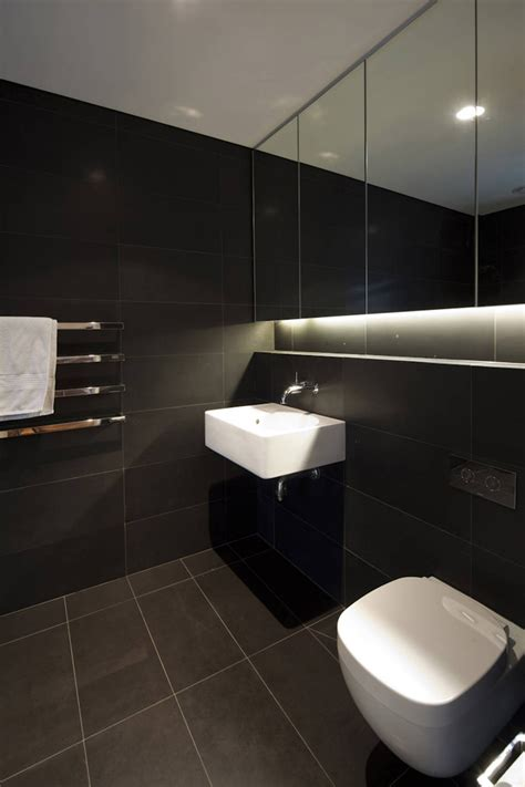 bathroom dark vaucluse house in sydney australia by mpr design group