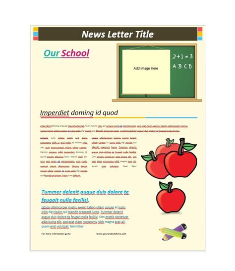 print newsletter template 50 free newsletter templates for work school and classroom