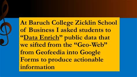 Zicklin Mba Statistics by Analytics For Musicians Presentation To Chamber