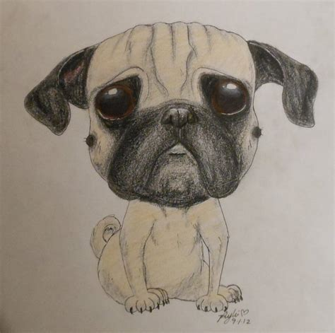 drawings of pugs pug drawing by rylieoh on deviantart