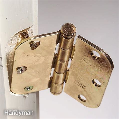 How To Repair Door Hinge by How To Fix Hinge Screws The Family Handyman