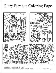 Fiery Furnace Coloring Page free coloring pages of bible story the fiery furnace
