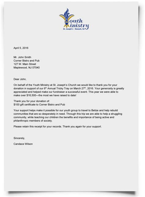 Sle Thank You Letter For Large Donation thanksgiving letter to donors 100 images donor stewardship 4 ways to show appreciation sle