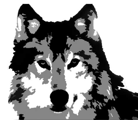 wolf stencil  probemsolver  deviantart