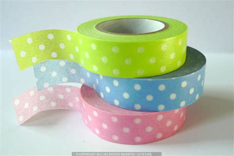 8 Pretty Polka Dot Accessories by Pretty Polka Dots Baby Pink Blue Green Japanese Washi