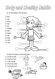 english teaching worksheets healthy habits