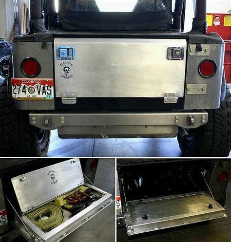 jeep tailgate storage rokmen aluminum drop tailgate w storage tj lj