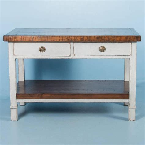 antique butcher block kitchen island vintage kitchen island with reclaimed butcher block top at