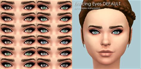 sims 4 realistic eyes mod the sims enticing eyes 20 colors