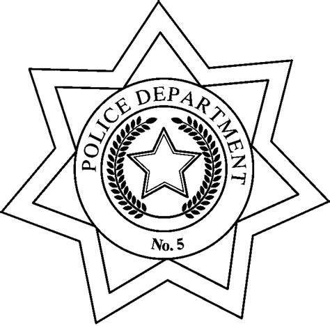 police badge coloring page coloring home