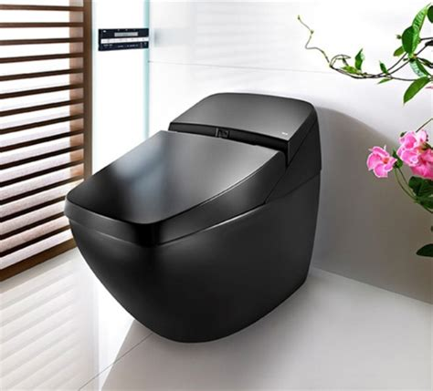 cool toilets cool black hi tech toilet lumen avant by roca digsdigs