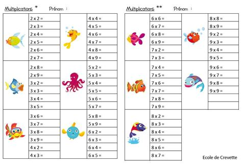 table de multiplication exercice cm1 table de multiplication exercice table de lit