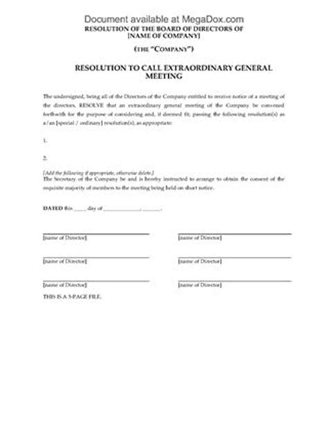 extraordinary general meeting minutes template uk articles of company limited by shares