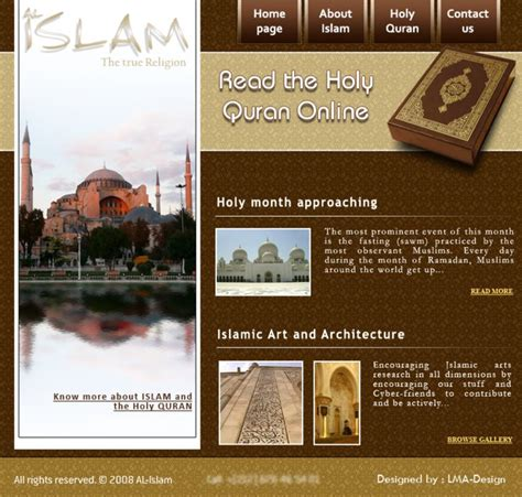 template koran photoshop al islam website template by lma design on deviantart